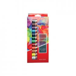 Tempera apa 12 culori in tub 12 ml Daco CU112