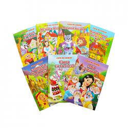 Carte de colorat cu povesti B5 Eurobookids 16 pagini