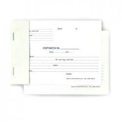 Chitanta autocopiativa 2 exemplare, format A6, orientare vedere, 100 file