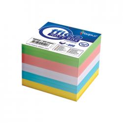 Cub notite color Forpus 41802 800 file 8.5x8.5 cm