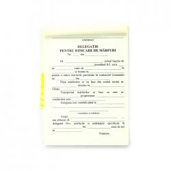 Delegatie pentru ridicare marfa, format A6, orientare portret, 100 file