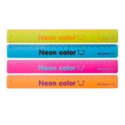 Rigla flexibila tip bratara Deli 18 cm culori neon 6206