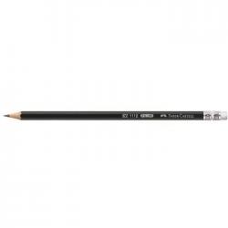Creion grafit HB cu radiera Faber Castell 111200