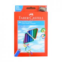 Creioane colorate 36 culori triunghiulare Faber Castell + ascutitoare 120536