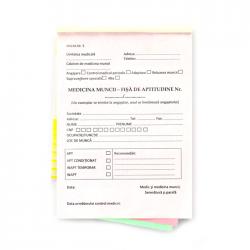 Fisa de aptitudini 3 exemplare, format A5, orientare portret, 150 file