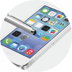 Pix metalic Forpus touchscreen 51592 pentru smartphone