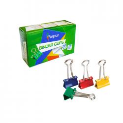 Clips metal Forpus 61612 25 mm culori intense 12/cutie