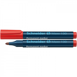 Marker permanent Schneider Maxx 130 rosu 1-3 mm