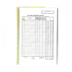 Nota contabila, format A4, orientare portret, 100 file