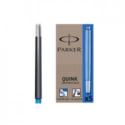 Patroane stilou mari albastre 5 bucati/cutie Parker Quink S0116210