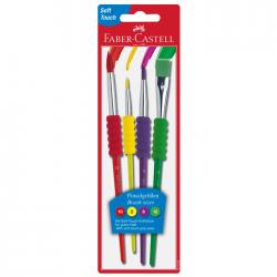Pensule desen 4/set Faber Castell Soft Touch 481600