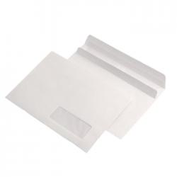 Plic C5 autoadeziv cu fereastra alb 100 bucati/set