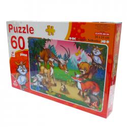 Puzzle 60 piese Animale Salbatice