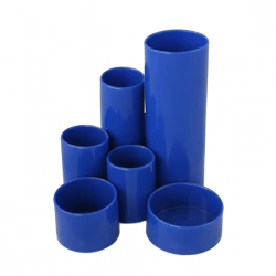 Suport pentru articole de scris 6 compartimente albastru