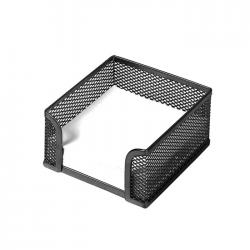 Suport pentru cub de hartie metalic mesh Forpus 30543 9.5x9.5 cm negru