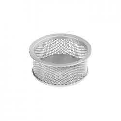 Suport pentru agrafe birou metalic mesh Forpus 30552 silver