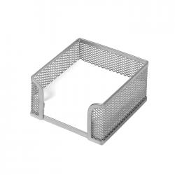 Suport pentru cub de hartie metalic mesh Forpus 30554 11x11 cm silver