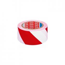 Banda adeziva marcare Tesa 60760 33mx50mm alb/rosu